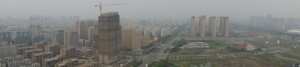 Blick auf Kunshan aus der Wohnung
