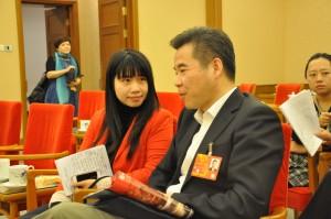 Zeng Wenhui bei der Arbeit in China