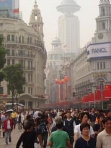 Einkaufszone Shanghai Nanjing Lu