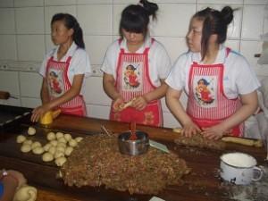Herstellung Mondkuchen China