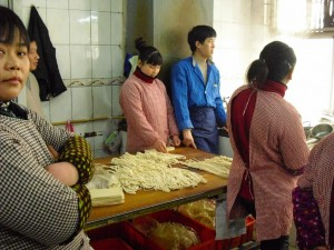 Gezogene Nudeln Xi'an China